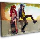 Evangelion 2 0 Asuka Langley Soryu Kaworu 40x30 Framed Canvas Print