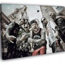 Five Finger Death Punch FFDP 5FDP Art Band 40x30 Framed Canvas Print