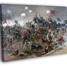 Battle Of Spotsylvania American Civil War Art 40x30 Framed Canvas Print