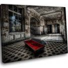 Vampire Coffin 40x30 Framed Canvas Art Print