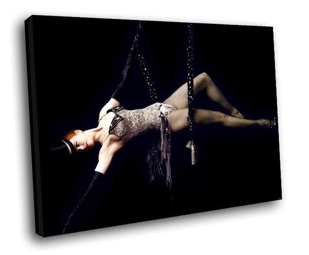 Moulin Rouge Movie Nicole Kidman Satine 40x30 Framed Canvas Art Print