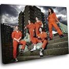 Misfits TV Series Cast 40x30 Framed Canvas Art Print