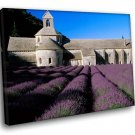 France Provence Abbey Of Senanque Lavender Field 40x30 Framed Canvas Art Print