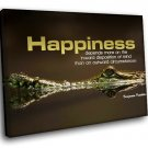 Happiness Quote Motivational 40x30 Framed Canvas Art Print