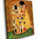 Gustav Klimt The Kiss Symbolism 40x30 Framed Canvas Art Print