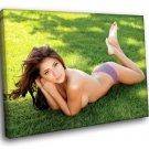 Arianny Celeste Hot Ring Girl Topless Model 40x30 Framed Canvas Art Print