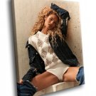 Candice Swanepoel Hot Model Curly Blonde 40x30 Framed Canvas Art Print