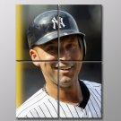 Derek Jeter Baseball New York Yankees Sport 40x30 Framed Canvas Art Print