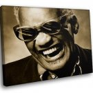 Ray Charles Blues Soul Music 40x30 Framed Canvas Art Print