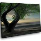 Fantasy Nature Landscape Tree 40x30 Framed Canvas Art Print