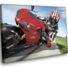Ducati 1098 Sport Bike Racing 40x30 Framed Canvas Art Print