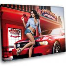 Ford Mustang Sexy Lady Sweetie Candy Sport Car 40x30 Framed Canvas Art Print