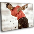 Tiger Woods American Golfer Champion Sport 40x30 Framed Canvas Art Print