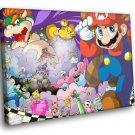 Super Mario Bros The Legend Video Game 40x30 Framed Canvas Art Print