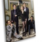 The Big Bang Theory Tv Series Cast 40x30 Framed Canvas Art Print