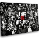 Hip Hop Culture Singers Rappers Stars 40x30 Framed Canvas Art Print