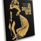 Federico Filini La Dolce Vita Movie 40x30 Framed Canvas Art Print