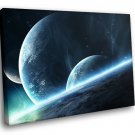 Planets Space Home D Cor 40x30 Framed Canvas Art Print