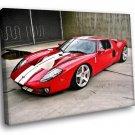 Ford GT Sport Car 40x30 Framed Canvas Art Print
