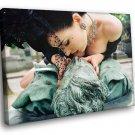 Dita Von Teese Burlesque Sexy Model Kiss 40x30 Framed Canvas Art Print
