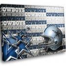 American Football Dallas Cowboys Logo 40x30 Framed Canvas Art Print