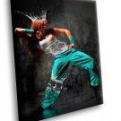 Break Dance Girl Water Queen Crown 40x30 Framed Canvas Art Print
