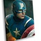 Captain America Super Hero Movie Chris Evans 40x30 Framed Canvas Art Print