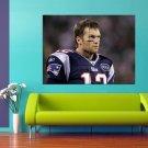 Tom Brady American Football Quarterback New England Patriots 47x35 Print Poster