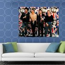Sex Pistols UK Flag Sid Vicious Guitars Punk Rock Band HUGE 48x36 Print POSTER