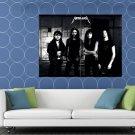 Metallica Retro Young Ulrich Hetfield Hammett Mustaine HUGE 48x36 Print POSTER