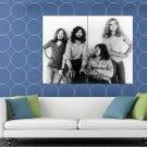 Led Zeppelin BW Retro Jones Page Bonham Plant Rock Band HUGE 48x36 Print POSTER
