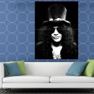 Guns N Roses BW Portrait Slash Hard Rock Band HUGE 48x36 Print POSTER