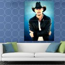 Tim McGraw Awesome Portrait Country Music Artist Singer HUGE 48x36 Print POSTER
