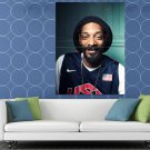 Snoop Dogg Awesome Portrait Basketball Rap Hip Hop HUGE 48x36 Print POSTER