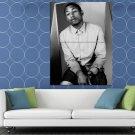 Pharrell Williams Amazing BW Portrait Shirt Handsome HUGE 48x36 Print POSTER