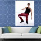 Justin Bieber Glass Sneakers Hot Sexy Music Singer HUGE 48x36 Print POSTER