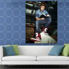 Justin Bieber Book Sneakers Sofa Handsome Music Singer HUGE 48x36 Print POSTER