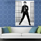 Elvis Presley BW Dancing Jailhouse Rock Retro Rare HUGE 48x36 Print POSTER