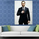 Tom Hardy Suit Beard Badass Handsome Amazing Actor HUGE 48x36 Print POSTER