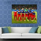 Team Players Usa 2014 Fifa World Cup Soccer Football Huge 48x36 Print Poster
