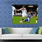 Mesut Ozil Sliding Tackle Germany Soccer Football HUGE 48x36 Print POSTER