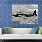 Vickers Wellington Bomber Airplane Aircraft War Old WW2 HUGE 48x36 Print POSTER
