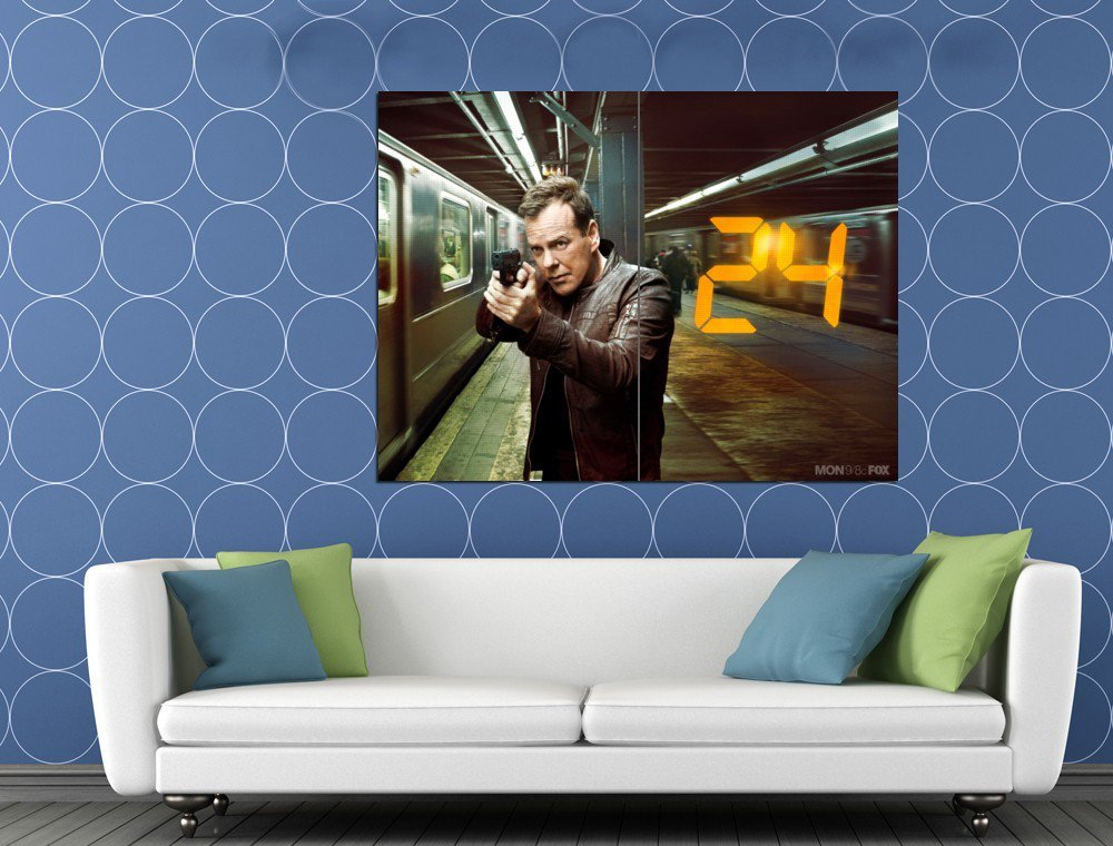Jack Bauer Kiefer Sutherland 24 Live Another Day Series HUGE 48x36 Print POSTER
