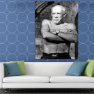 Pablo Picasso Artist Painter Shirtless Cubism Old Retro HUGE 48x36 Print POSTER