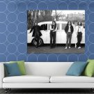 The Beatles Rock Pop Band Music Classic Bw Huge 48x36 Print Poster