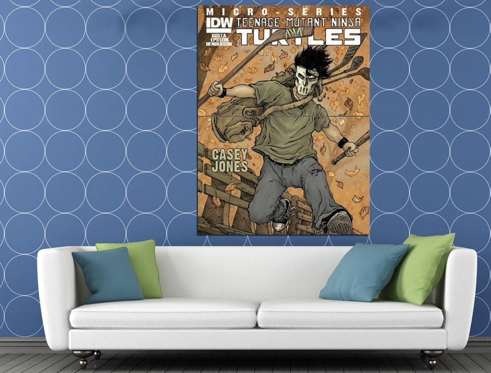 Casey Jones Teenage Mutant Ninja Turtles Cool Art TMNT HUGE 48x36 Print POSTER