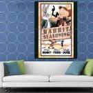 Bugs Bunny Elmer Fudd Daffy Duck Looney Tunes Painting HUGE 48x36 Print POSTER