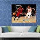 Dwyane Wade Miami Heat Dribbling Basketball Sport HUGE 48x36 Print POSTER