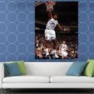 Karl Malone Dunk Utah Jazz Retro Sport HUGE 48x36 Print POSTER