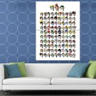 The Powerpuff Girls Cool Characters Kids Cartoon Art HUGE 48x36 Print POSTER